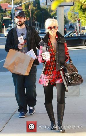 Jordan Bratman and Christina Aguilera do some last minute shopping for the holiday season in Santa Monica California, USA -...