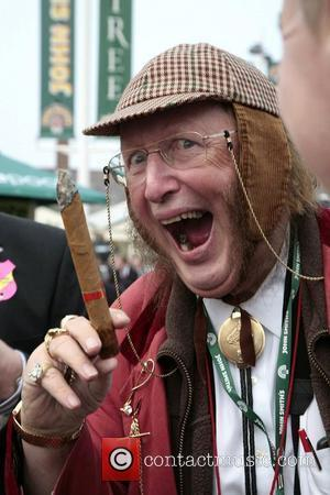 John McCririck attend Ladies Day at the Grand National held at Aintree Racecourse Liverpool, England - 03.04.09