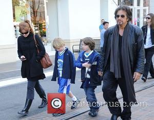 Al Pacino shopping with his family at the Grove Los Angeles, California - 07.02.09