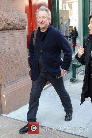 Alan Rickman out in Manhattan's East Village apartment huntin New York City, USA - 15.12.08