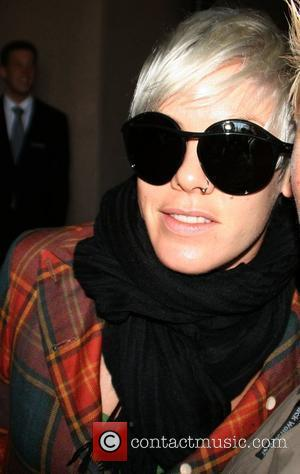 Pink aka Alecia Moore leaving the Hyatt hotel in Cologne Cologne, Germany - 30.03.09