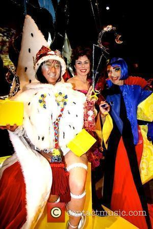 Winner Miss Fancy Chance, Ruby Wax and Andrew Logan Alternative Miss World 2009 competition held at the Round House London,...