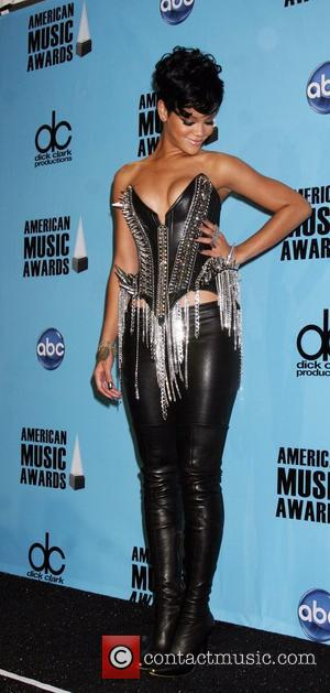 Rihanna - winner of Best Female in pop/rock and soul/rhythm American Music Awards 2008 held at the Nokia Theatre -...