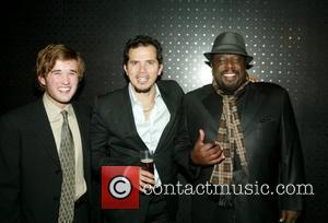 Haley Joel Osment, John Leguizamo and Cedric the Entertainer at the Opening Night after-party for the Broadway play 'American Buffalo'...
