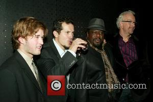 Haley Joel Osment, John Leguizamo, Cedric the Entertainer and Robert Falls at the Opening Night after-party for the Broadway play...