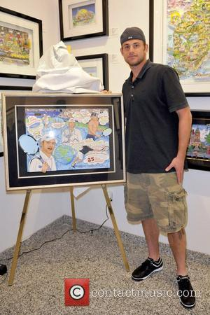 Andy Roddick Artist Charles Fazzino unveils his official poster for the '8th Annual Andy Roddick Foundation Charity Gala' at the...