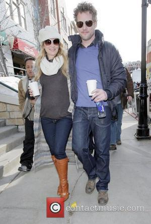 Anne Heche and a male friend
