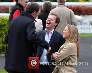Declan Donnelly and girlfriend Georgie Thompson  enjoying a day at Kempton Park Racecourse. Donnelly towered over his diminutive sports...