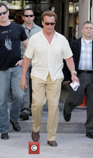 Arnold Schwarzenegger seen leaving the Giuseppe Franco salon after having a hair cut. Los Angeles, California, USA - 04.04.09