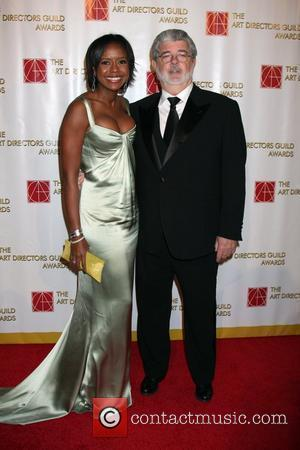 George Lucas and Mellody Hobson The 13th Annual Art Directors Guild Awards held at the Beverly Hilton Hotel - Arrivals...