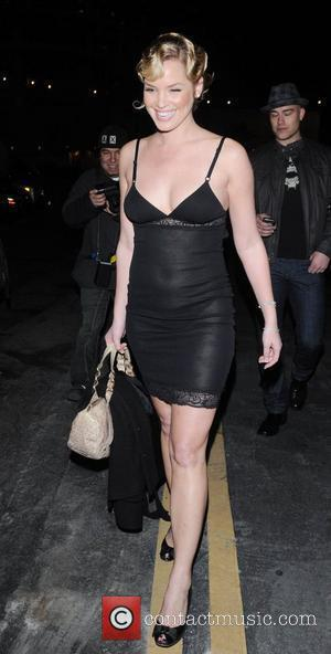 American actress Ashley Scott leaving Bardot wearing a see-through negligee Hollywood, California - 26.01.09