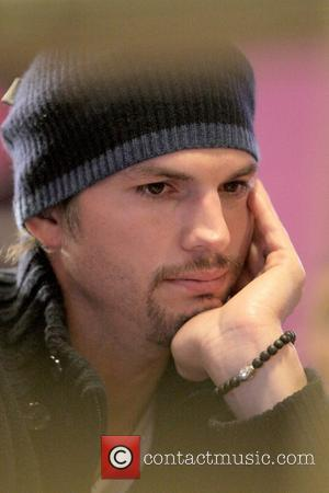Ashton Kutcher during an MTV interview at the MySpace lounge at the 2009 Sundance Film Festival, Day 2 Park City,...