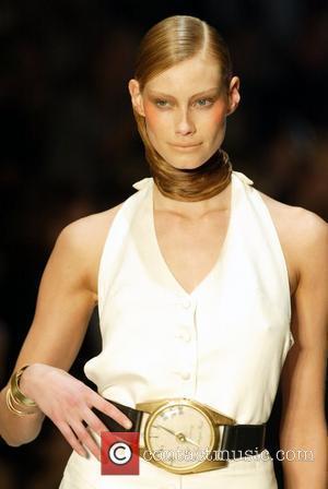 Alyssa Sutherland models Kirrily Johnston Australian Fashion Week held at the Overseas Passenger Terminal on Sydney Harbour - Day Three...