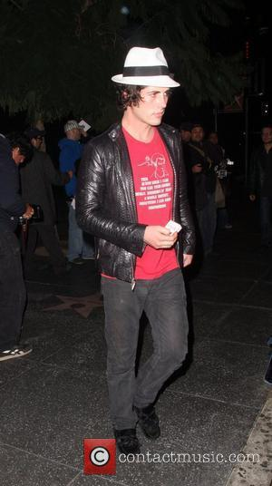 Brandon Davis Leaving the Bardot Bar Los Angeles, California - 011208