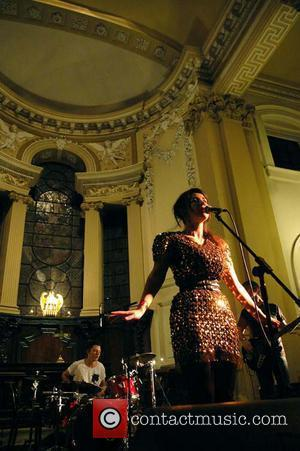 Marina and the Diamonds performing live at Holy Trinity Church as part of Live At Leeds 04/05/09. Photo by Bart...