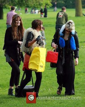 Mischa Barton and Pixie Geldof Enjoying A Day Out With Friends On Primrose Hill