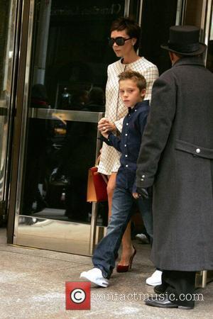Victoria Beckham and Son Brooklyn Beckham