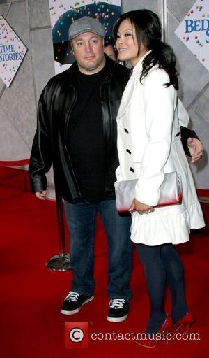 Kevin James and Steffiana De La Cruz World Premiere of Walt Disney Pictures 'Bedtime Stories' at El Capitan Theatre Hollywood,...
