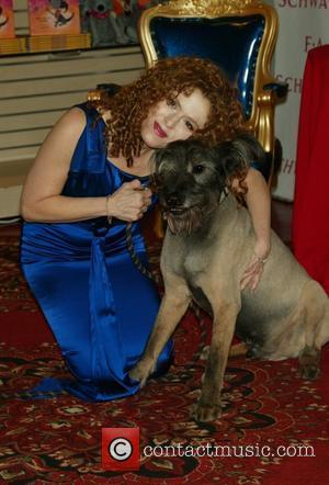 Bernadette Peters and Her Dog Kramer