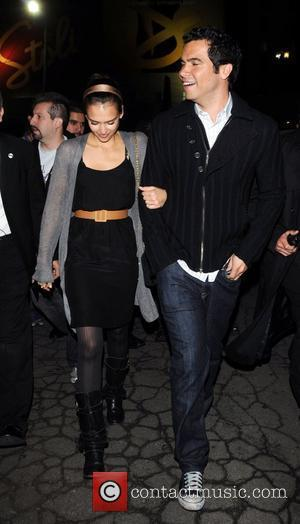 Jessica Alba and Cash Warren Outside Beso