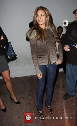 Nadine Velazquez outside Beso restaurant in West Hollywood Los Angeles, California - 30.12.08