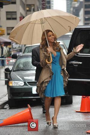 Beyonce Knowles and David Letterman