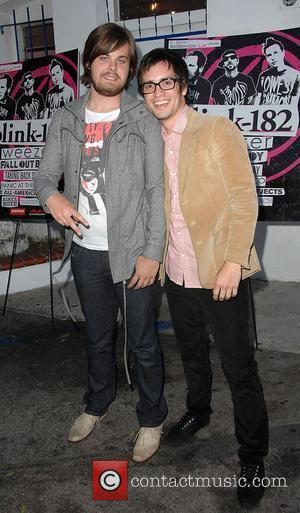 Spencer Smith and Brendon Urie of 'Panic at The Disco'  Blink-182 Tour launch held at The El Compadre restaurant...