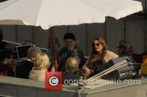 Philip Seymour Hoffman, Talulah Riley, Bill Nighy, Nick Frost at a boat trip with The Boat That Rocked (Radio Rock...