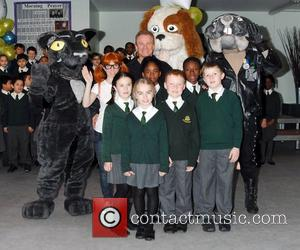 Bobby Davro Bobby and The Dots photocall in aid of Kids Taskforce Charity held at St Andrews Catholic Primary School...