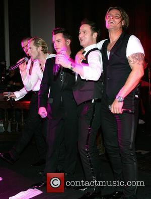 Boyzone perform at the annual masquerade ball in aid of Autism Action at the Royal Hospital in Kilmainham Dublin, Ireland...