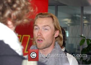 Ronan Keating of Boyzone visits 104.6 RTL Radio station in Berlin. Boyzone were promoting their new greatest hits album which...