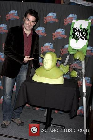 Brian d'Arcy James from 'Shrek the Musical' on Broadway at a handprint ceremony at Planet Hollywood Times Square New York...