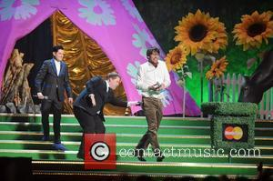 Mathew Horne, James Corden and Alex James The 2009 BRIT Awards - Show held at Earls Court London, England -...