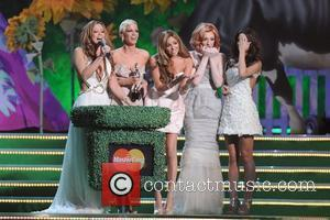 Kimberley Walsh, Sarah Harding, Nadine Coyle, Nicola Roberts and Cheryl Cole of Girls Aloud The 2009 BRIT Awards - Show...