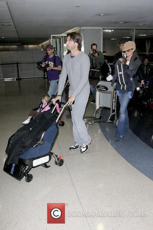 David Charvet and Brooke Burke seventh winner of ''Dancing with the Stars'' Brooke Burke arrives at LAX with her family...