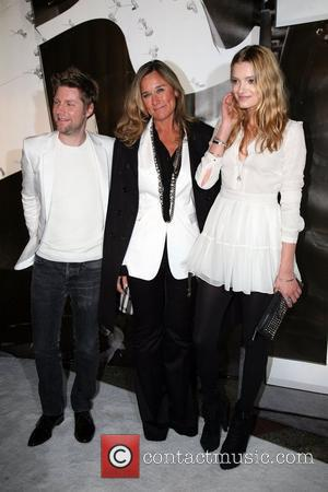 Christopher Bailey, Angela Ahrendts and Guest Burberry Lights Up NYC Skyline on 'Burberry Day' held at The New York Palace...