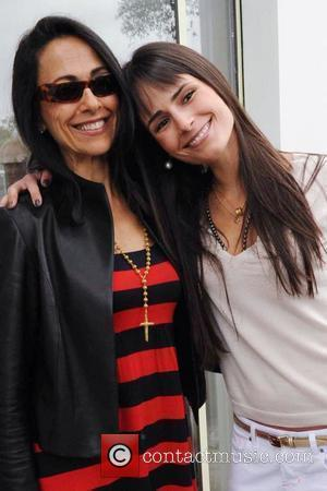 Jordana Brewster and her mother Maria Joao Brewster outside the Byron & Tracey Lounge held at Byron & Tracey Salon...