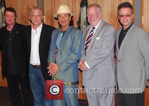 Carlos Santana and Mayor Oscar Goodman