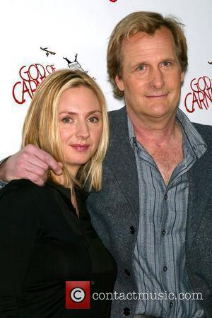 Hope Davis and Jeff Daniels Photocall of the cast of upcoming Broadway play 'God of Carnage' at the Hilton Theatre...