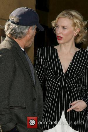 Steven Spielberg and Cate Blanchett Cate Blanchett receives the 2,376th Star on the Hollywood Walk of Fame Los Angeles, California...