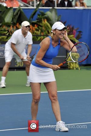 Chris Evert  The 19th Annual Chris Evert/Raymod James Pro-Celebrity Tennis Classic at the Delray Tennis Center - On Court...