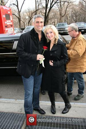Taylor Hicks leaves his hotel to meet a girl who won a date with him New York City, USA -...