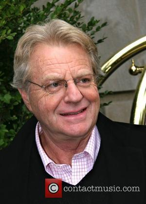 Jerry Springer leaving his hotel New York City, USA - 29.10.08