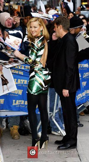 Kate Hudson and David Letterman