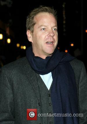 Kiefer Sutherland and David Letterman