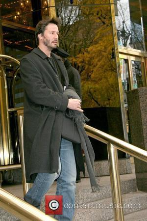 Keanu Reeves outside his Manhattan hotel New York City, USA - 18.11.08