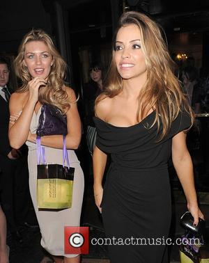 Abigail Clancy, Elen Rives leaving the Dorchester Hotel and having attended a party