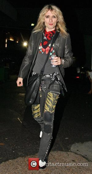Justin Hawkins leaving the X Factor Show. London, England - 07.12.08