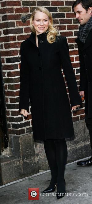 Naomi Watts and David Letterman