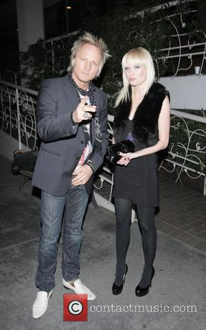 Matt Sorum and his wife leaving Madeo restaurant in Beverly Hills  Los Angeles, California - 04.02.09